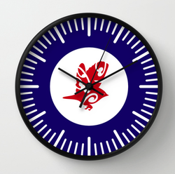 clock, wall clock, tauhou, slivereye, wax eye, white eye, bird, new zealand bird, australian bird, koru, maori design, airforce, roundel, new zealand, flag, roundel flag, flying bird, small bird, air force