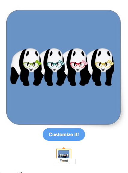 black and white, panda wearing glasses, bear wearing glasses, bear, panda, glasses, bows, animal, animals, pandas, bears, pandas wearing glasses, pink bow, square sticker